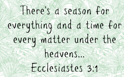 Bible in a Year – To Everything There is a Season